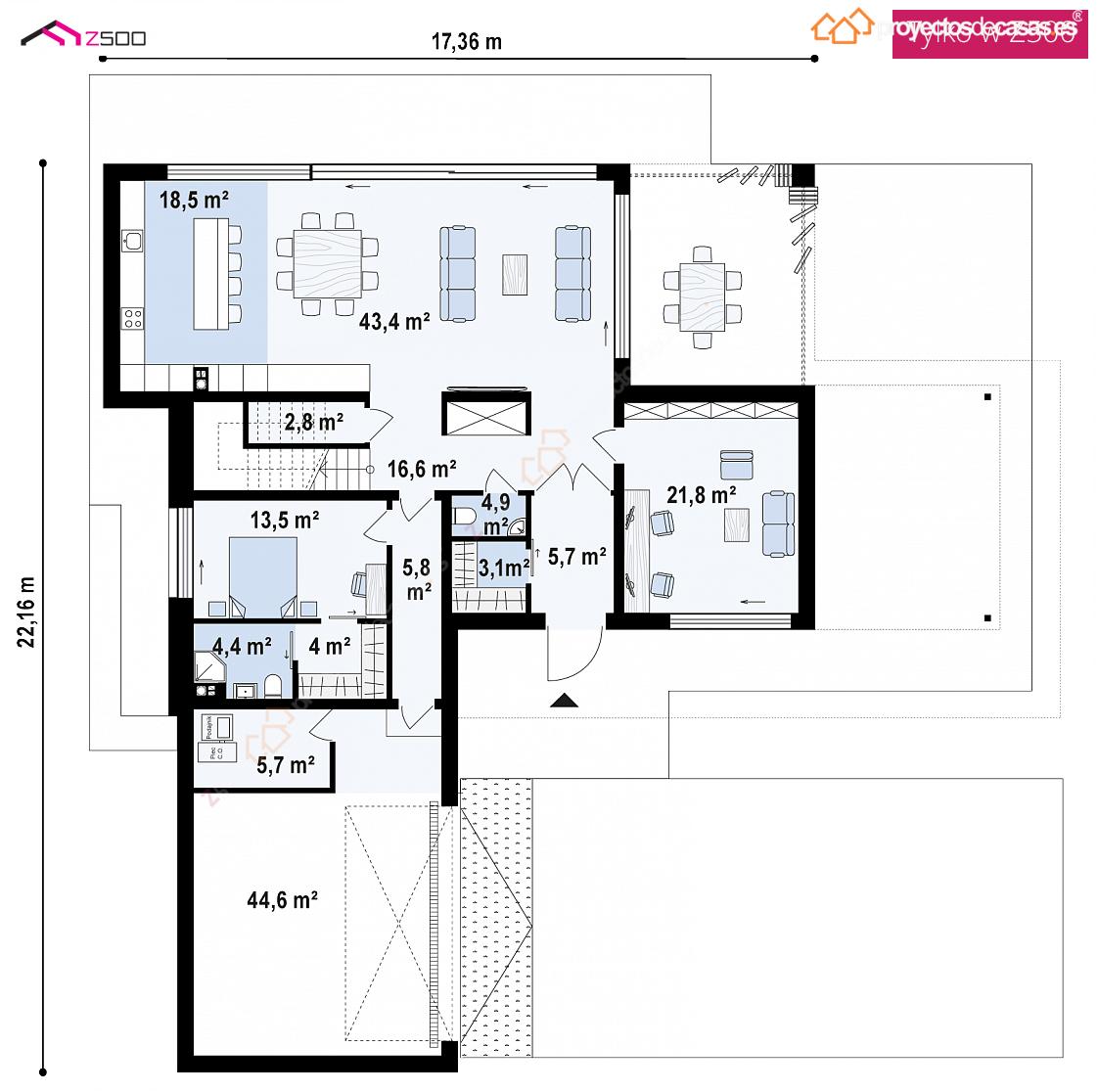 Planos casa planta baja good casa baja with planos casa for Casa moderna planta baja