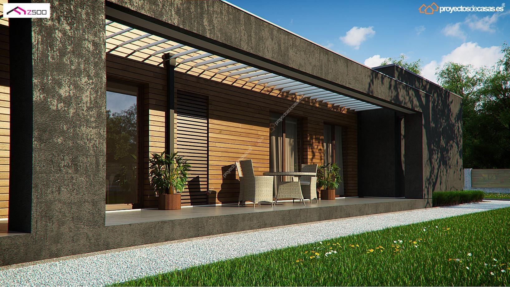 Casa unifamiliar de 1 planta proyectos de casas for Proyectos minimalistas