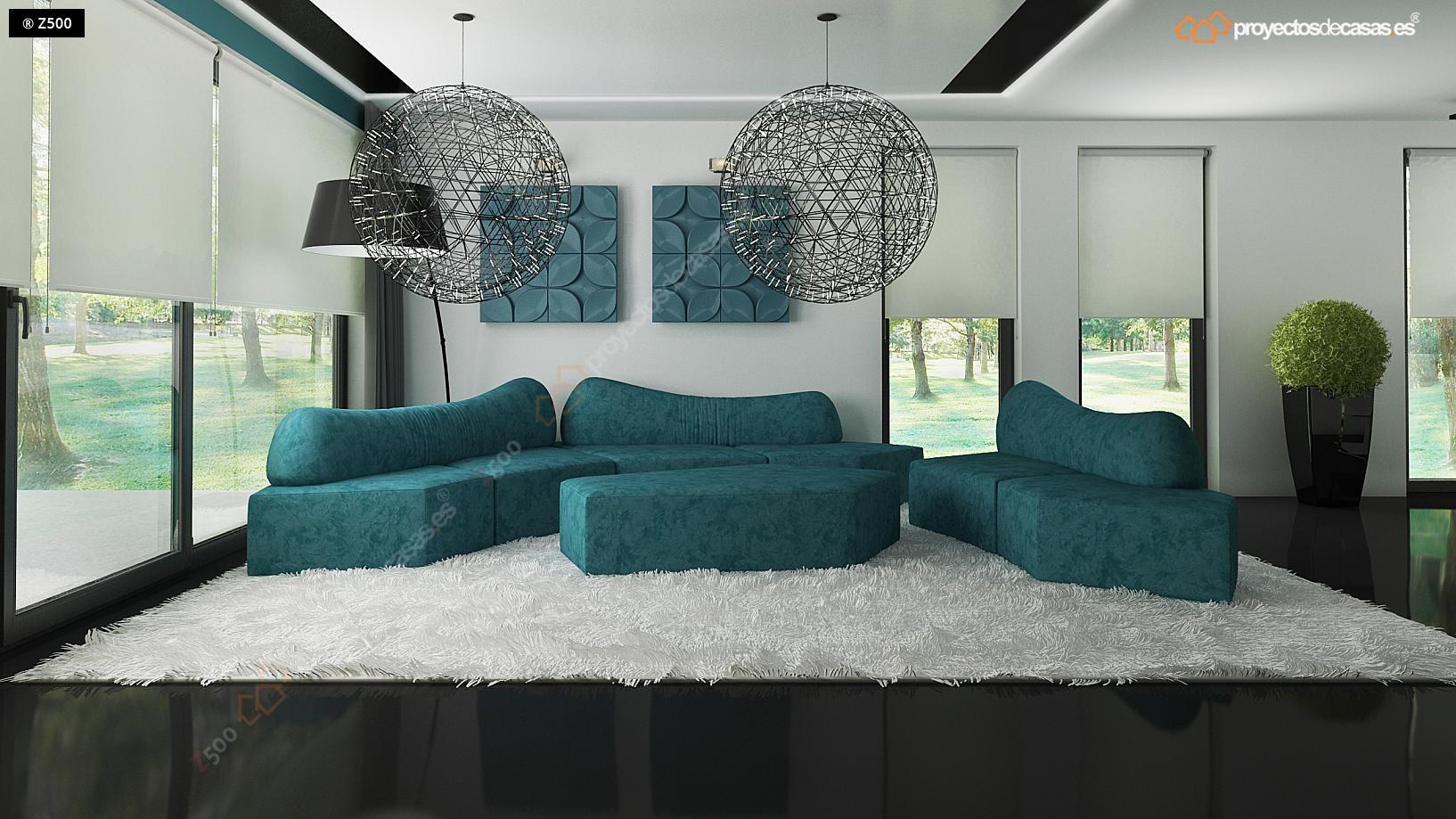 Proyectos de casas casa moderna con piscina - Salones de lujo ...