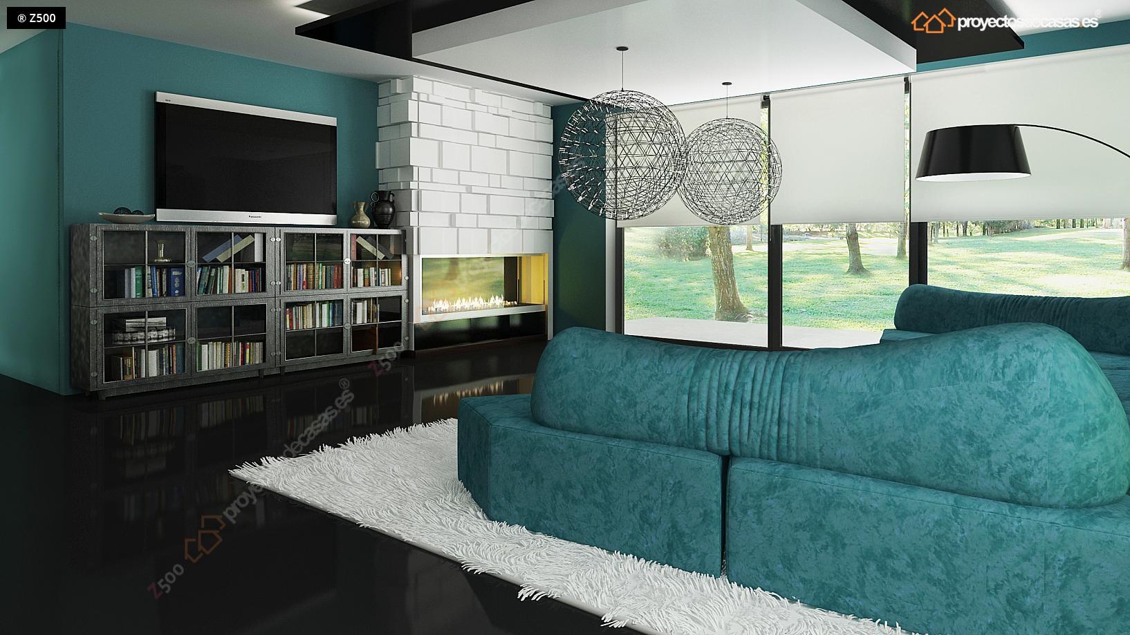 Proyectos de casas casa moderna con piscina - Constructoras albacete ...