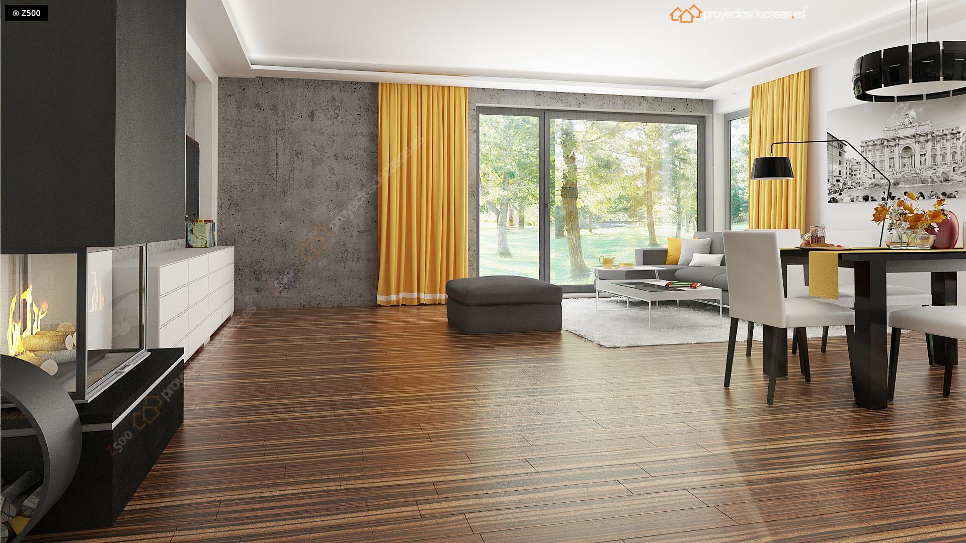 Proyectos de casas casa moderna de 1 planta con piscina for Casa moderna 5 dormitorios