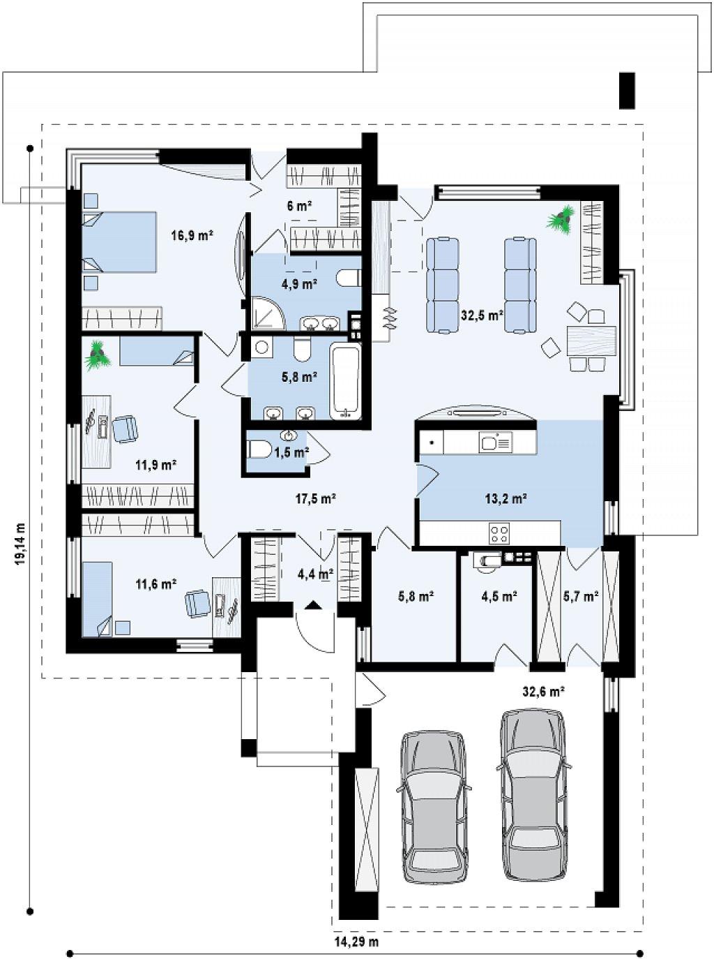 Proyectos de casas casa moderna proyectosdecasas dise amos y construimos casas en toda espa a - Planos de casas pareadas ...