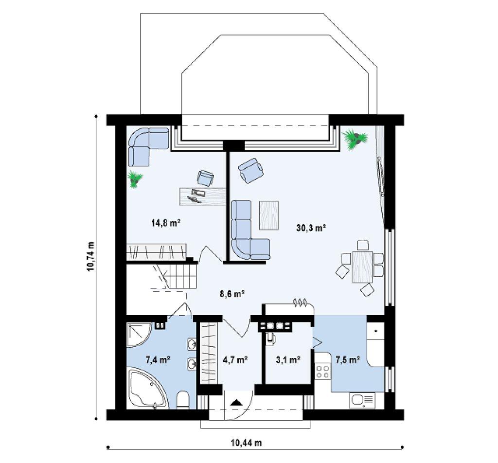 Proyectos de casas casa moderna proyectosdecasas - Metros cuadrados espana ...