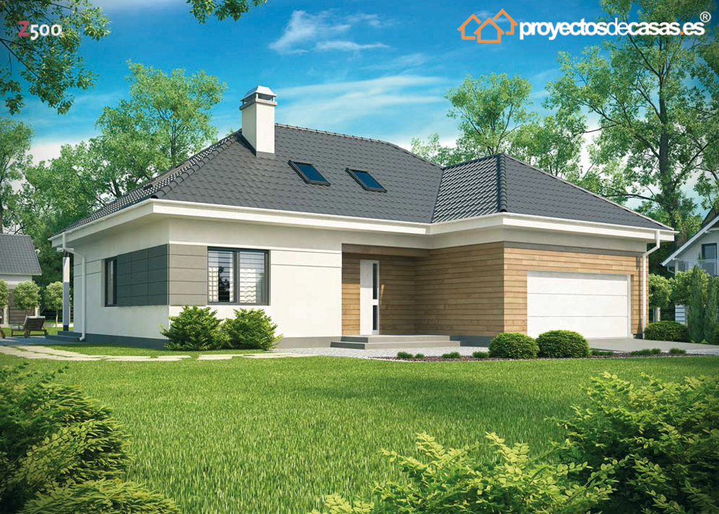 Proyectos de casas casa tradicional proyectosdecasas for Casa minimalista 2 dormitorios