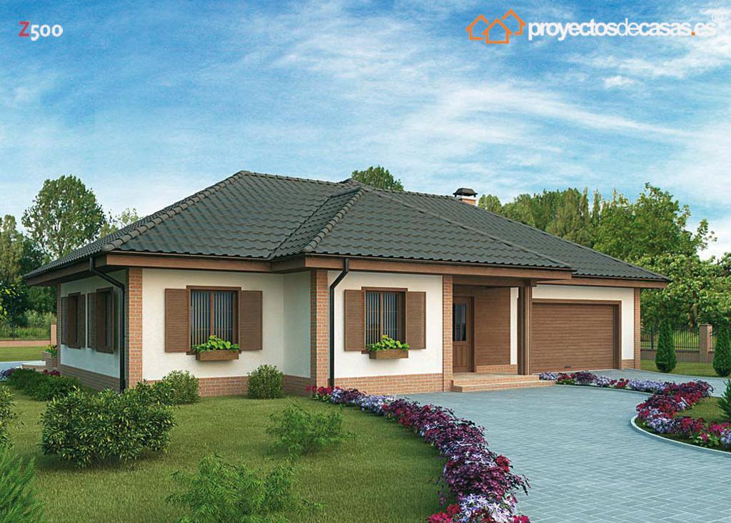 Proyectos de casas casa tradicional proyectosdecasas for Viviendas modernas de una planta