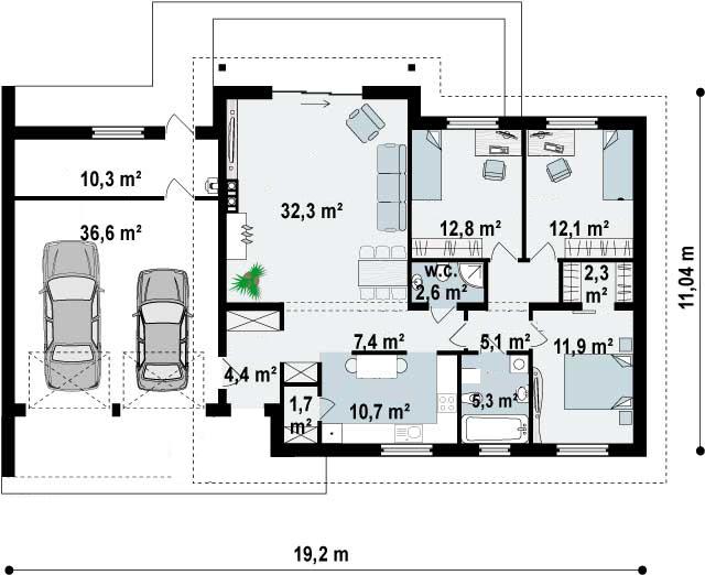 Proyectos de casas casa tradicional proyectosdecasas dise amos y construimos casas en toda - Planos de casas pareadas ...