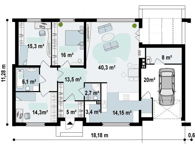 Planos De Casas Modernas De 3 Dormitorios De Dos Pisos Diseo De - Planos-de-pisos-de-3-dormitorios