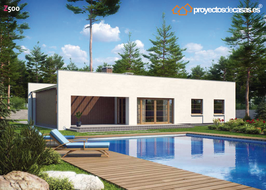 Proyecto casa moderna planos de casas modernas fachada for Proyectos de casas modernas