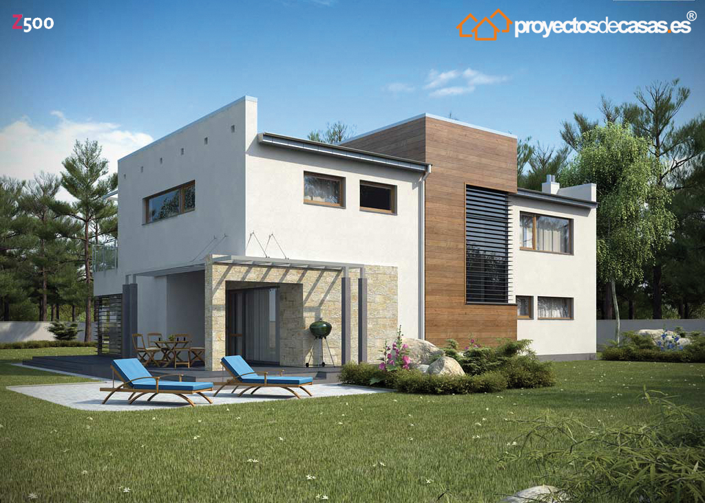 Proyectos de casas casa moderna con piscina - Aparejadores albacete ...
