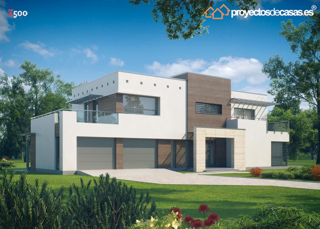 Proyectos de casas casa moderna con piscina for Casas baratas en sevilla y provincia