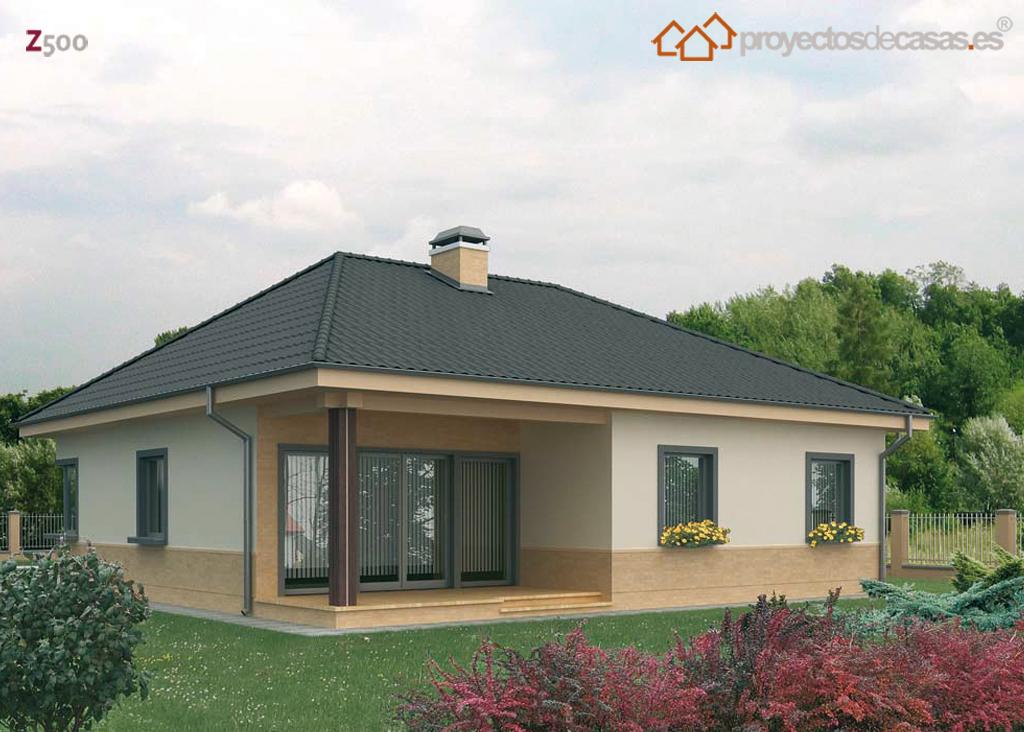 Proyectos de casas casa cubierta inclinada duero proyectosdecasas dise amos y construimos - Casas de una planta rusticas ...