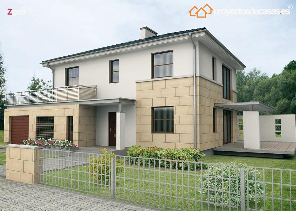 Ficha y planos de casa adaja estilo urbano for Planos de viviendas de una planta