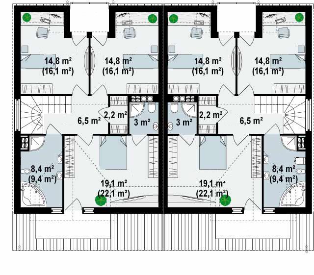 Proyectos de casas casa moderna con piscina - Planos de casas en espana ...