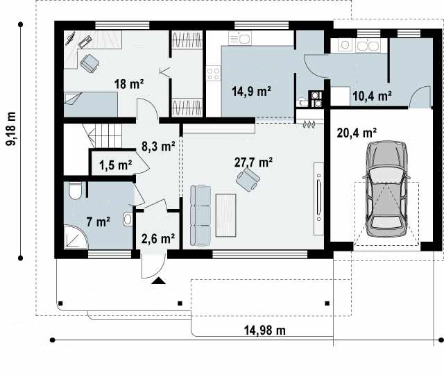 planos de casas unifamiliares de dos plantas