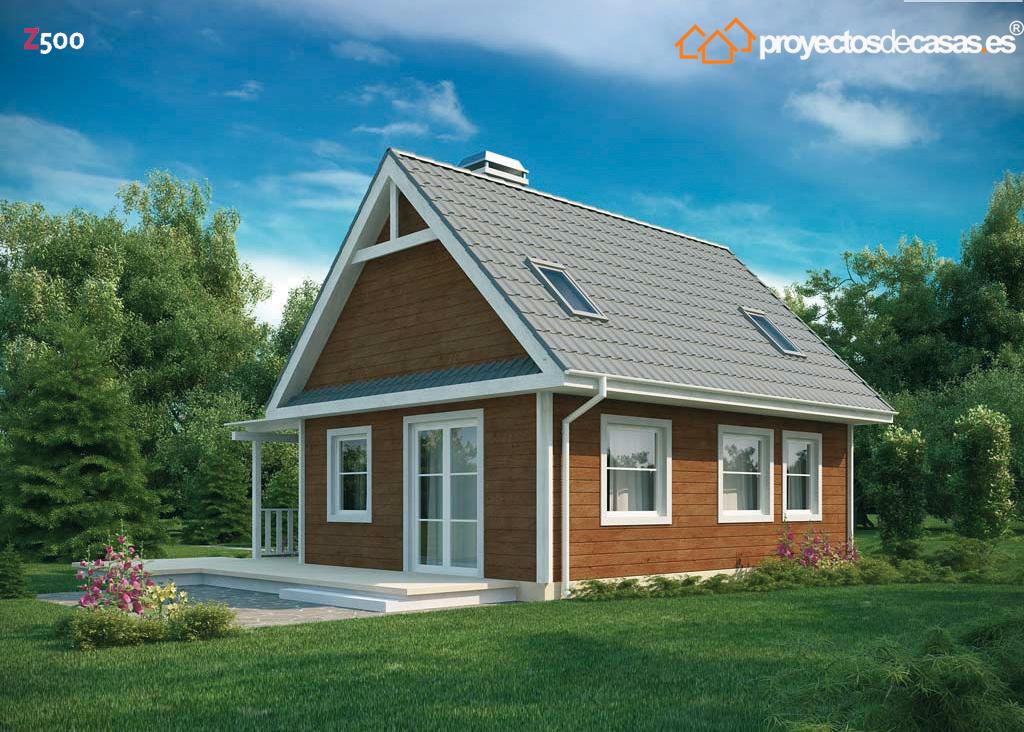 Proyectos de casas peque a casa de madera - Constructores de casas de madera ...