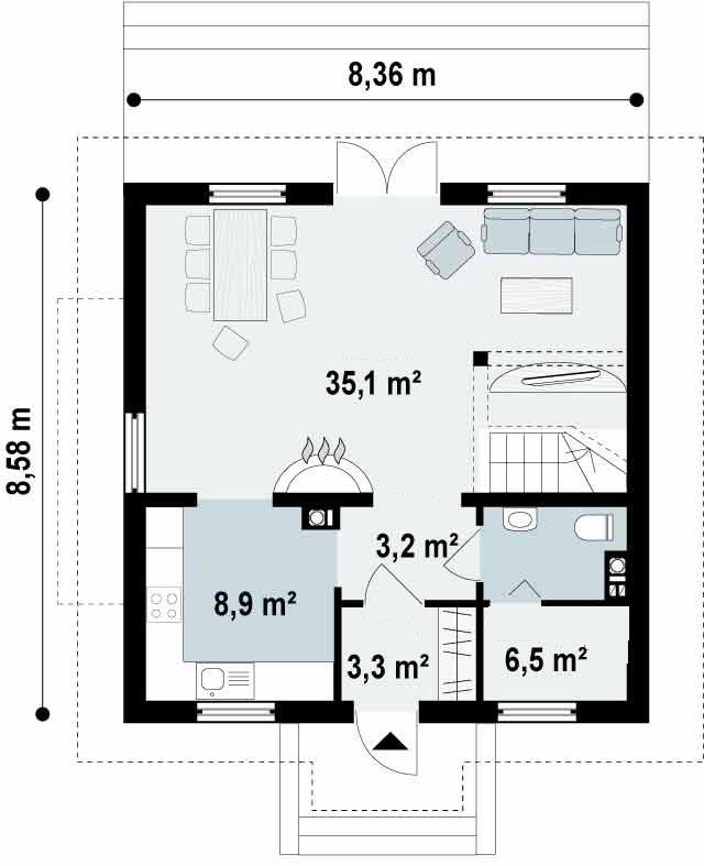 Proyectos de casas casa cl sica proyectosdecasas - Metros cuadrados espana ...