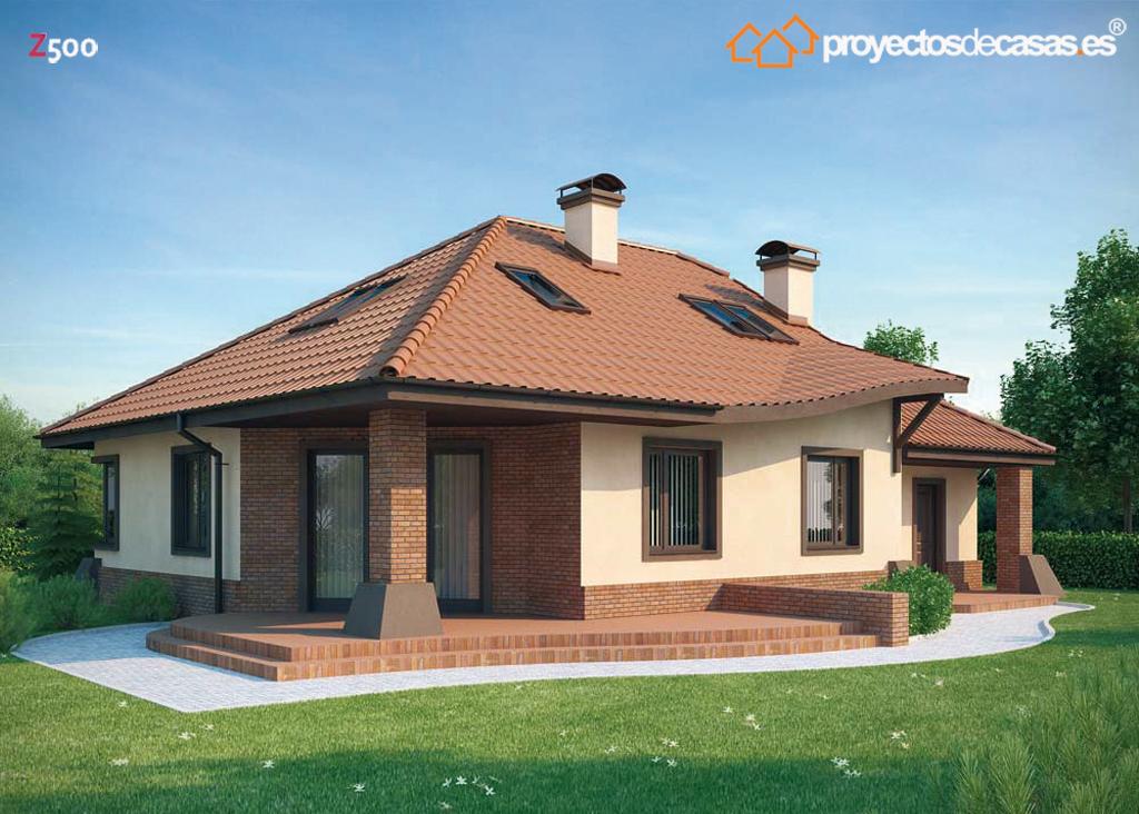 Proyectos de casas casa r stica proyectosdecasas for Casas rusticas de ladrillo