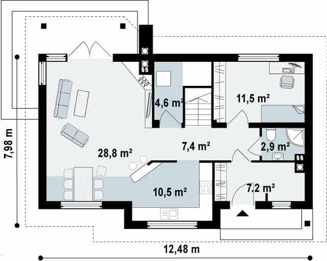 Proyectos de casas casa r stica proyectosdecasas - Planos de casas en espana ...